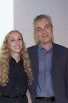 Vogue Italia's editor-in-chief Franca Sozzani and Milan's councilor for culture Stefano Boeri