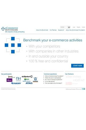 eCommerce benchmark (screen shot)