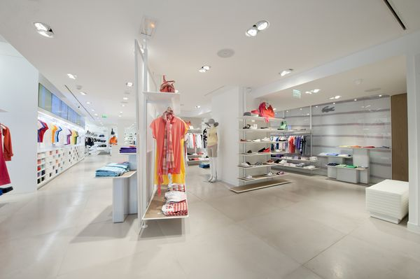 redesigned Lacoste store on Champs Elysees