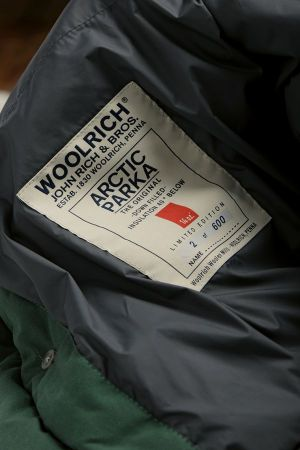 the Arctic parka's label