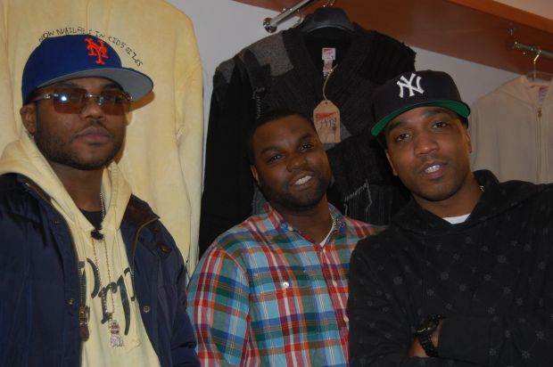 Brothers and owners of Vinnies Styles: Paul, Desta and Jacob Parris