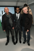 From left: Allesandro Pungetti, artist Tinie Tempah and Paul Harvey