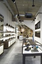 A brick wall in the focus at the new Floris van Bommel flagship