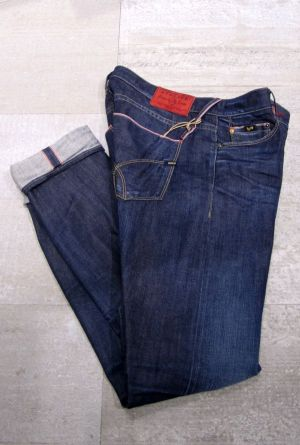 A model of the new red-selvedge denim program