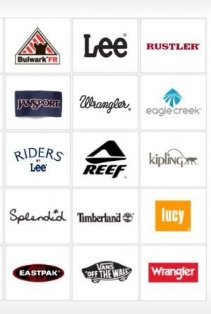 A selection of the VF brands