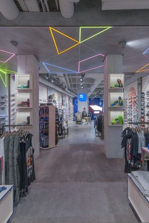 AW Lab flagship store in Rome's major shopping street, Via Del Corso