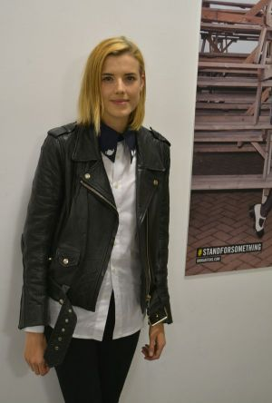 Agyness Deyn at the presentation of ther third collection for Dr. Martens