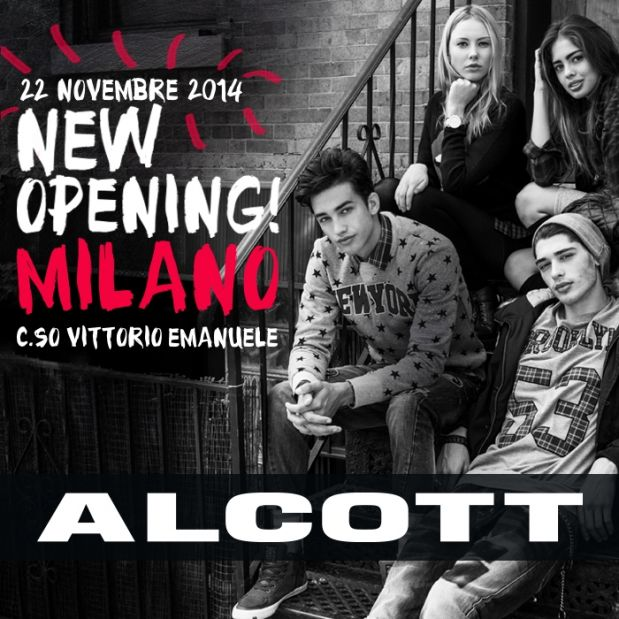 Alcott new opening Milano - promotional ad