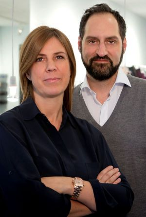 Amorph owner Iris Jorde and Christian Brennenstuhl