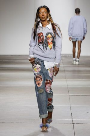 Ashish sequin embroidered tribute to One Direction, at LFW