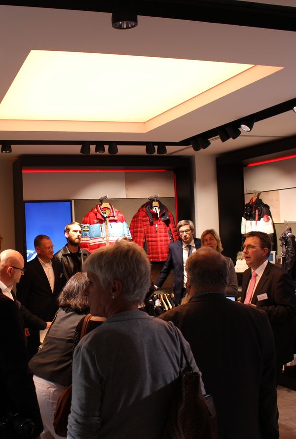 At the Bogner test shop presentation in Munich