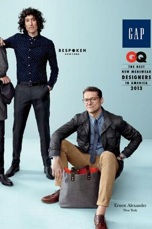 Award winning newcomers designed for Gap men's collection.