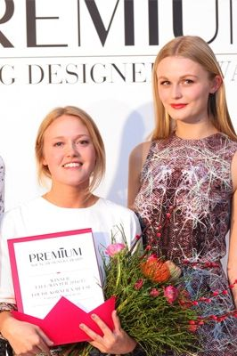 Award Winner Louise Körner with one of her models