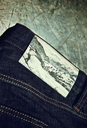 Back label of Alberto's winter denims