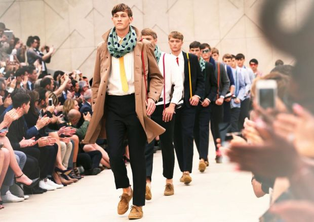 Burberry Prorsum returned to the London catwalk with its SS14 collection
