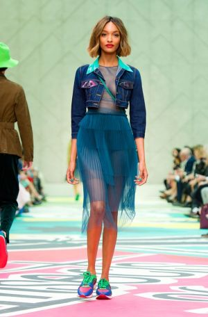 Burberry Prorsum's take on the jean jacket, at LFW