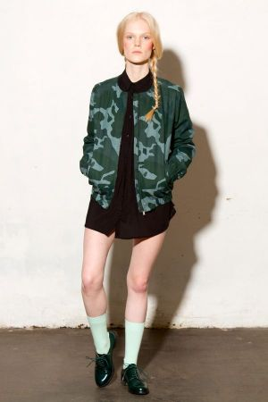 Camouflage bomber jacket, key piece of the FW14 collection