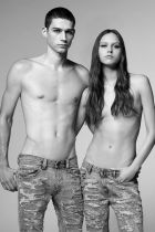 Campaign image of the Diesel Denim Atelier Collection