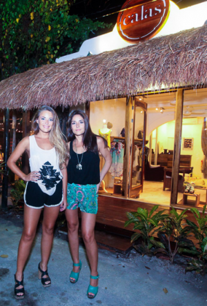 Candela Vives (left) and Laura Ruiz, owner of Mexican Calas Boutique