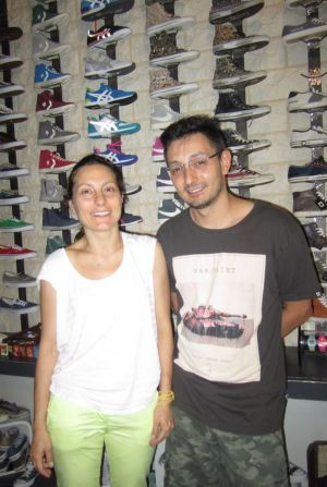 Carol Capodieci and Gialunca Antonio, co-owners of Jump Milano.