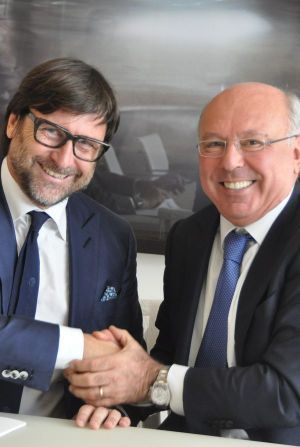 Claudio Marenzi (l., president SMI) with Gabriele Piccini, country chairman Italy at Unicredit