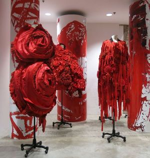 Comme des Garcons Blood and Roses installation