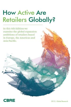 Cover of the report 'How active are retailers globally?' by CBRE