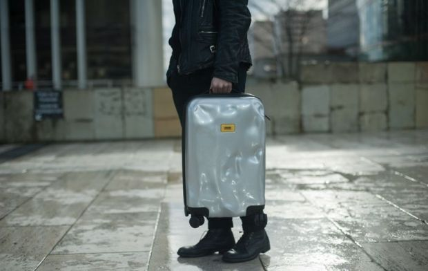 Crash Baggage suitcase in silver