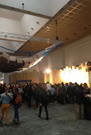 Crowded entrance area at the first day of Denim by PV