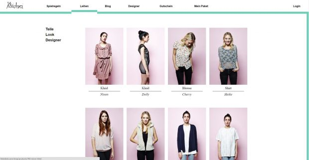 Customers can select different looks at Kleiderei.com