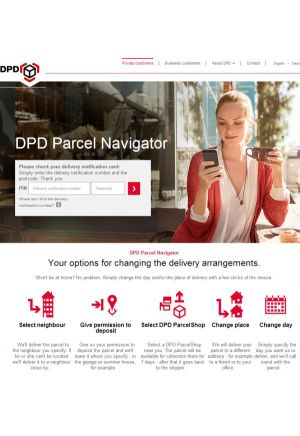 DPD's redirection options in overview