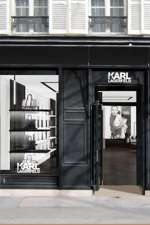 Debut in Europe: Karl Lagerfeld's first concept store in Paris.