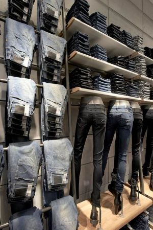 Denim selection at the new G-Star store