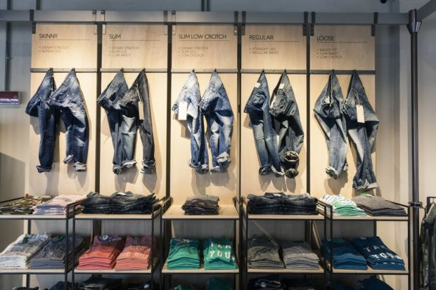 Denim space in the On Canvas store
