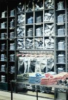 Denim wall in the Replay Shop