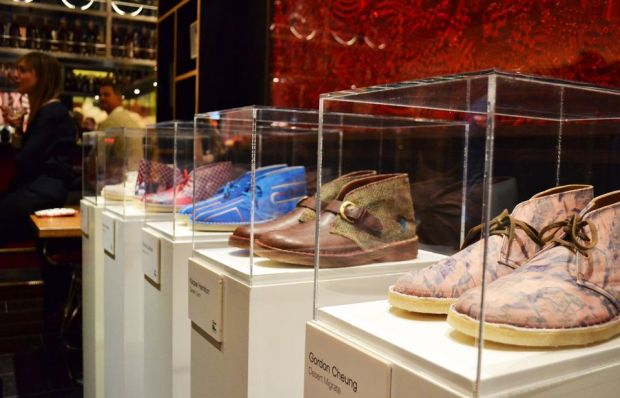 Desert Boot artist editions on display