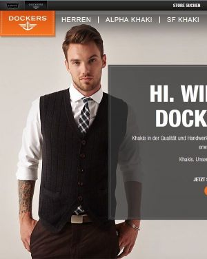 Dockers expands its online trade in Europe