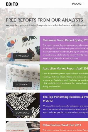 Editd offers partly free reports about fashion market topics