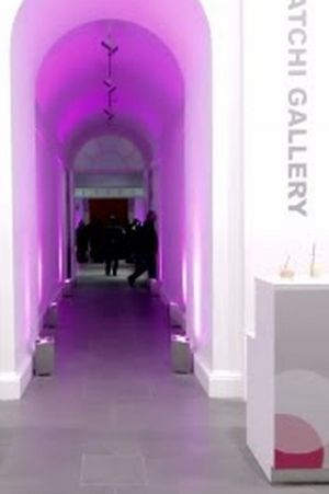 Entrance of the last Hugo Boss exhibition at Saatchi Gallery London.