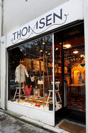 Entrance of the newly redesigned Thomsen store in Paris