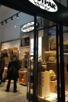 Entrance of the new Eastpak store in Milan
