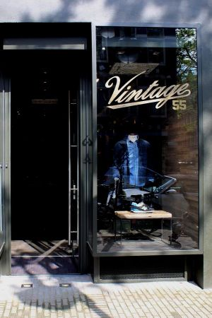Entrance to the new Vintage 55 store in Amsterdam