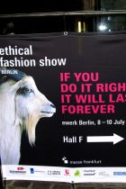 Ethical Fashion Show sign