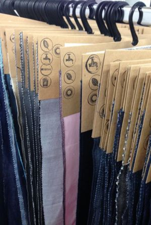 Fabric samples from Kassim Denim at Future Fabrics Expo