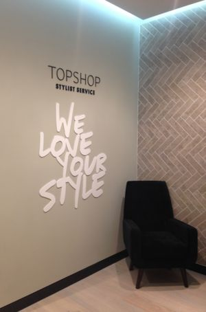 Fitting rooms in the new Amsterdam Topshop