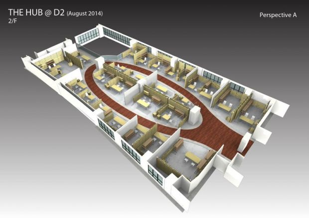 Floor plans for The Hub at D2