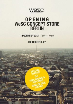 Flyer for the opening of the new WeSC Berlin store