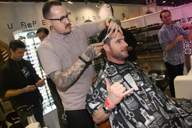 Frank's Chop Shop offers haircuts live at Agenda Show