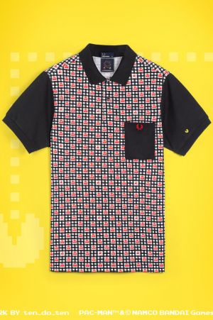 Fred Perry in collaboration with Pac Man.