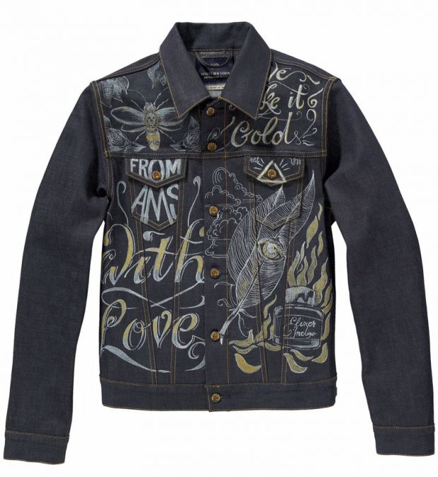 Front of the trucker jacket for sale (€349,95)